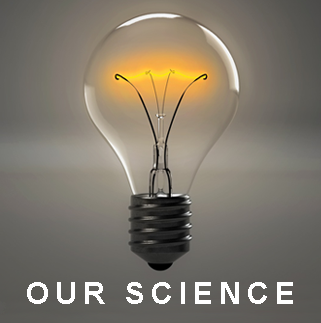 "Image button: ""Our Science"" Picture of a light bulb"