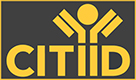CITIID Logo - yellow text on a grey background, with stylised letter i's